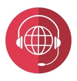 world planet head service communication shadow vector image