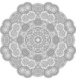 round mandala decorative floral element vector image