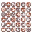 big color garbage icons vector image vector image