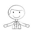 cute husband avatar character vector image