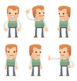 set of neighbor character in different poses vector image