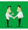 two cheerful businessman vector image