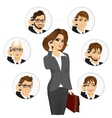 businesswoman calling business contacts vector image