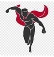 Superhero push forward vector image