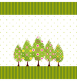 abstract springtime blossom tree vector image