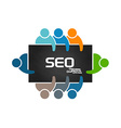People doing Search Engine Optimization Analysis vector image