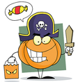 Cartoon Character Halloween Pumkin vector image