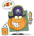 Cartoon Character Halloween Pumkin vector image vector image