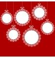 Christmas white balls vector image
