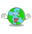 crazy world globe character cartoon vector image