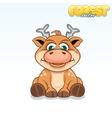 Cute Cartoon Axis Deer Funny Animal vector image
