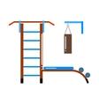 Gymnastic ladder vector image