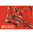 musician playing guitar poster vector image