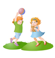 Playing kids vector image