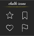 Tags and marks chalk icons set vector image