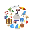 Vacation Decorative Icons Set vector image