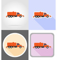 truck flat icons 15 vector image
