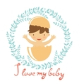 Cute baby hatching from an egg vector image vector image