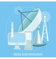 Data transmission vector image