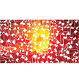 abstract red orange triangles background vector image vector image