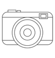 black line photographic camera vector image