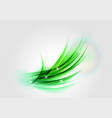 Abstract green light shape vector image