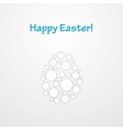 Abstract light grey Easter egg background vector image