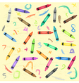 Crayons Scribbles Seamless Pattern vector image