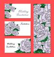 Hand Drawn Wedding Rose Invitation vector image