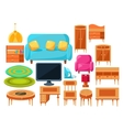 Living Room Interior Elements Set vector image