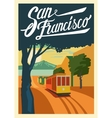 poster San Francisco California vector image