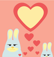 rabbit in valentine vector image