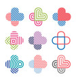 set of decorative isolated logos crosses vector image