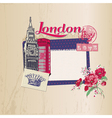 Scrapbook Design Elements - London Vintage Card vector image vector image