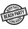 Beach Party rubber stamp vector image