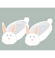 bunny slippers vector image