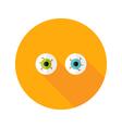 Halloween Eyeballs Flat Icon vector image