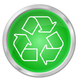 recycling button vector image
