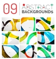 Pack of abstract backgrounds vector image vector image