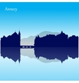 silhouette skyline of Annecy - France vector image vector image