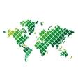 geometric texture world map icon vector image