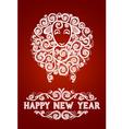 Abstract New Year Sheep vector image