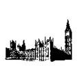 big ben clock tower and parliament house at city vector image