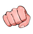 comic power fist punching vector image