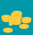 gold coins flat vector image