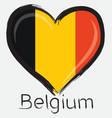 love Belgium flag vector image