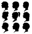 profiles of women and men vector image