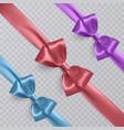 set of realistic blue purple and orange vector image