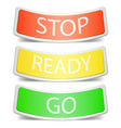 set vector badge label with traffic sign vector image