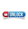 Unlock button vector image